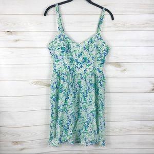 [Amour Vert] Multi Color Geometric Silk Dress